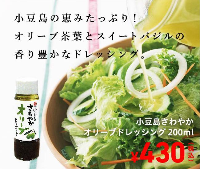 オリーブオイルが保湿 きめ細かい泡立ち さわやかオリーブオイルドレッシング 200ml 430円