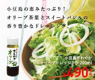 オリーブオイルが保湿 きめ細かい泡立ち さわやかオリーブオイルドレッシング 200ml 490円
